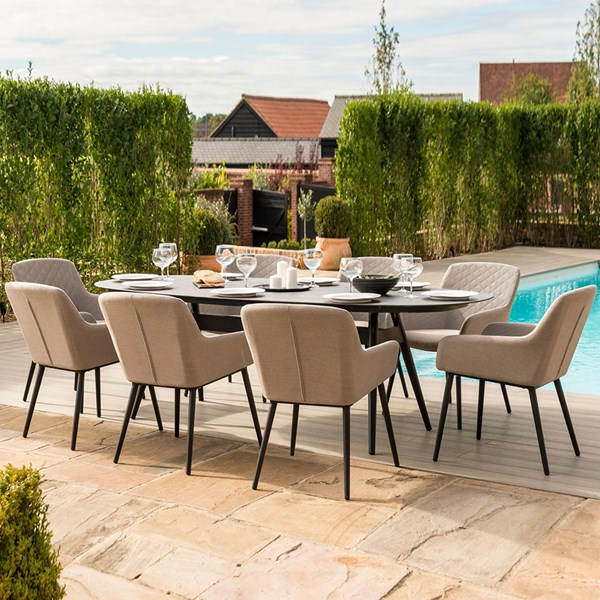 Maze Rattan Zest 8 Seat Oval Dining Set
