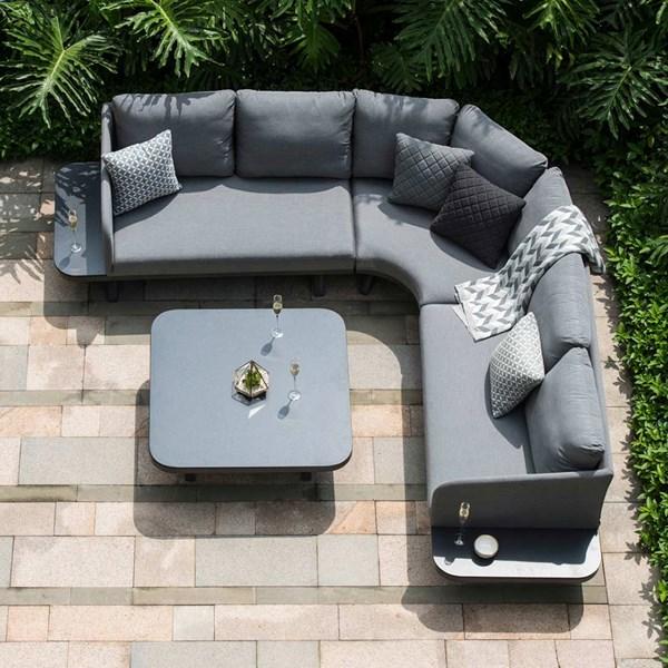Maze Rattan Cove Corner Sofa Set