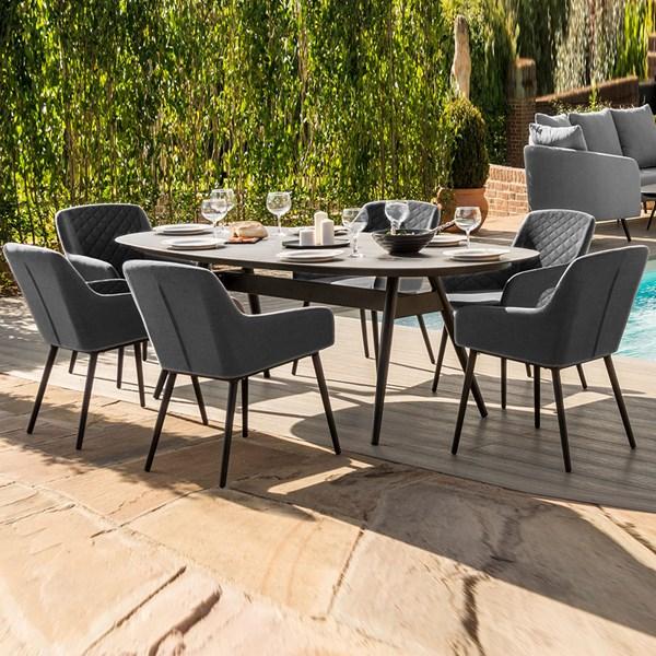 Maze Rattan Zest 6 Seat Oval Dining Set