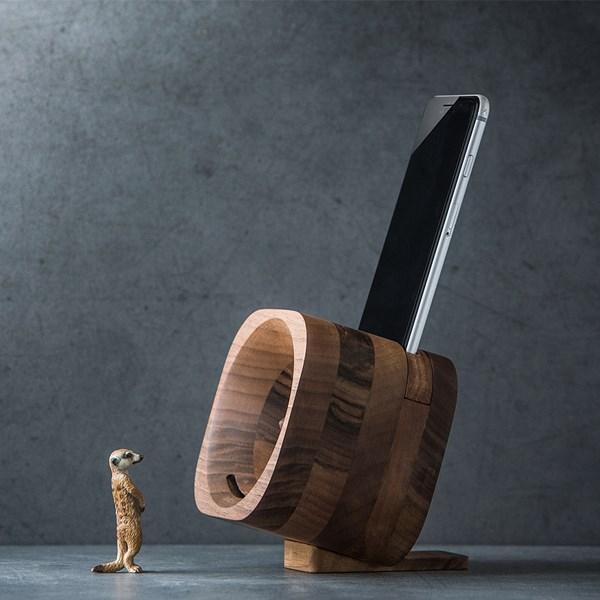 Trobla Wooden Amplifier Speaker for Smartphones