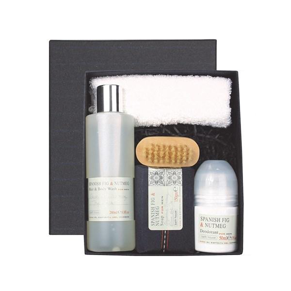 Bath House Spanish Fig & Nutmeg Men's Shower Gift Box