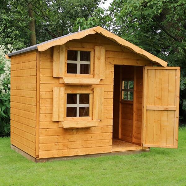 Mercia Kids 7x5 Double Storey Wooden Playhouse