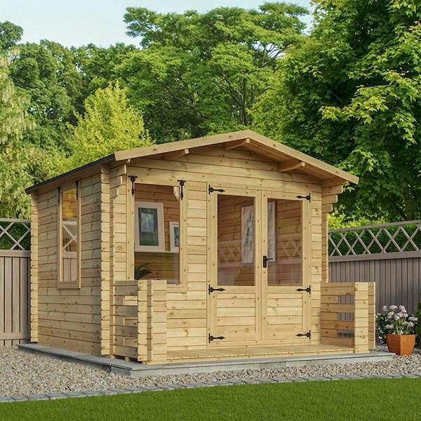 Studio Log Cabin with Veranda by Mercia