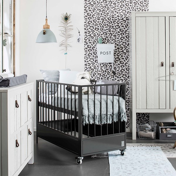 Contemporary Style Steel Cot