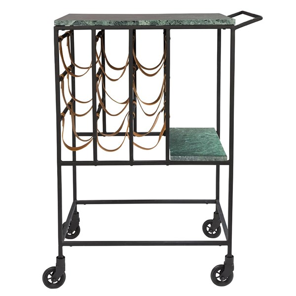 Marble Top Drinks Trolley with Iron Frame