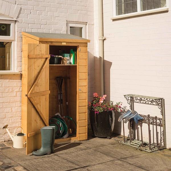 Midi Wooden Garden Storage Shed in Honey Brown