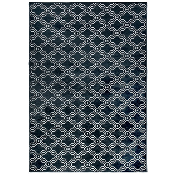 Feike Tile Pattern Rug in Midnight Blue