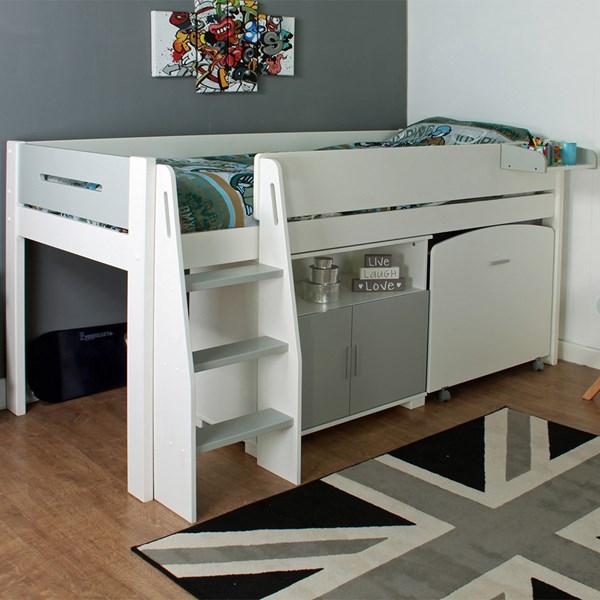 Kids Avenue Midsleeper 2 Urban Grey Bed