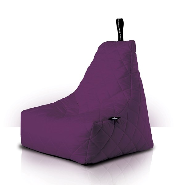 Mighty B-Bag Quilted Outdoor Bean Bag in Berry
