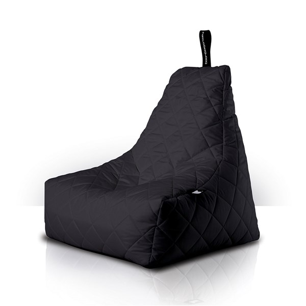 Mighty B-Bag Quilted Outdoor Bean Bag in Black
