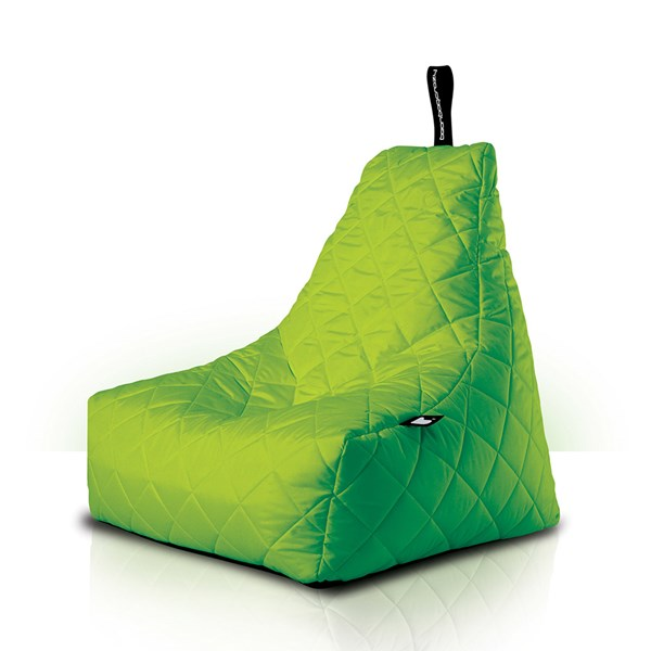 Mighty B-Bag Quilted Outdoor Bean Bag in Lime