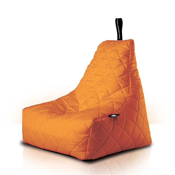 Mighty B-Bag Quilted Outdoor Bean Bag in Orange