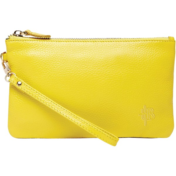 Mighty Purse Designer Clutch Bag in Yellow