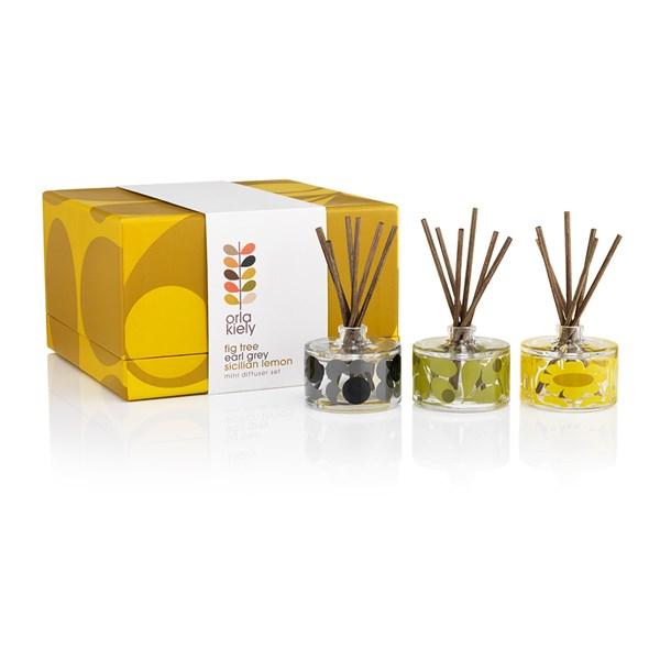 Orla Kiely Acorn Mosaic Mini Diffuser Gift Set