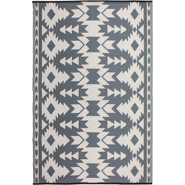 Reversible Outside Rug for Garden in Grey