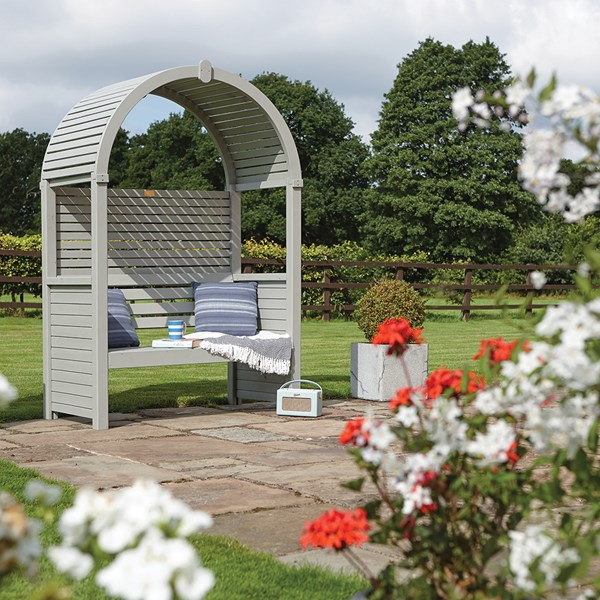 Rowlinson Modena Garden Arbour in Natural Timber