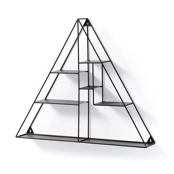 Neth Black Triangle Wall Shelf by La Forma