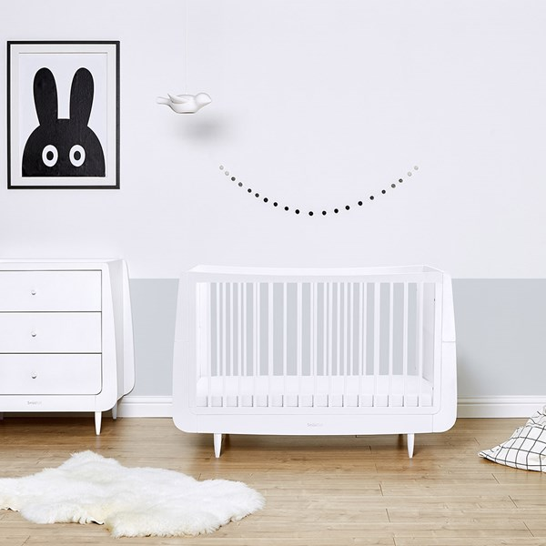 SnuzKot Skandi Cot Bed in White