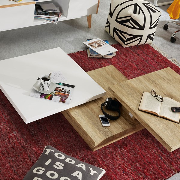 Yuki Coffee Table with Extending Sections by La Forma
