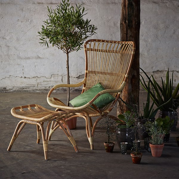 Sika Rattan Monet Wingback Chair in Natural