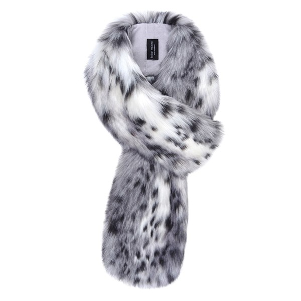 Helen Moore Faux Fur Loop Scarf in Arctic Leopard