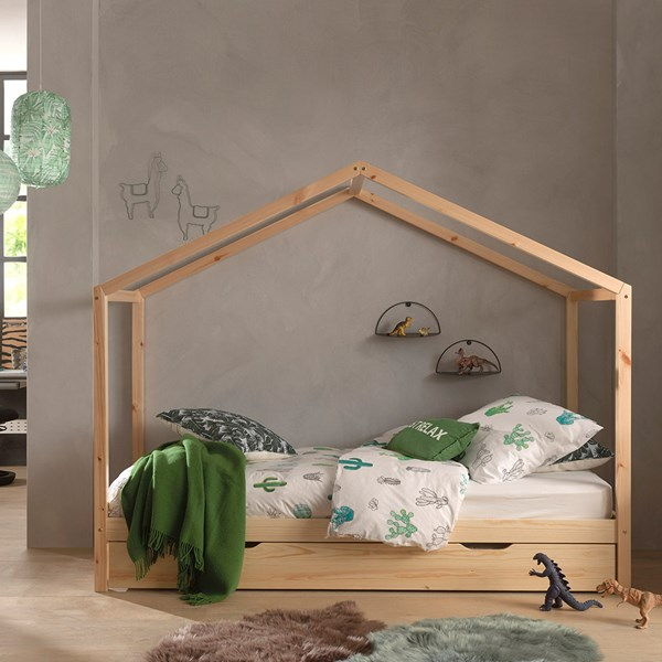 Children's Single Bed with Trundle Drawer