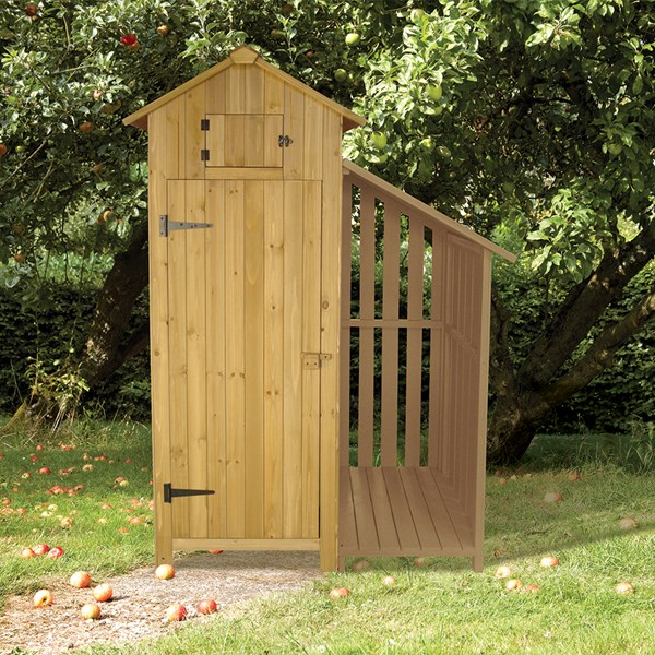 Tool Shed with Log Store in Natural
