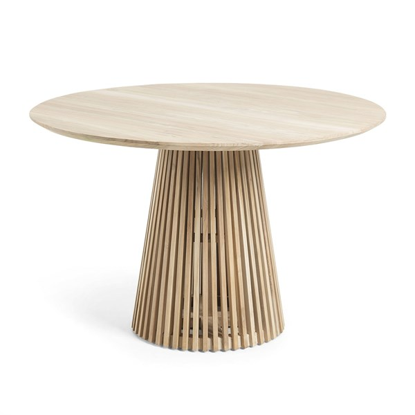 Irune Solid Teak Round Dining Table by La Forma