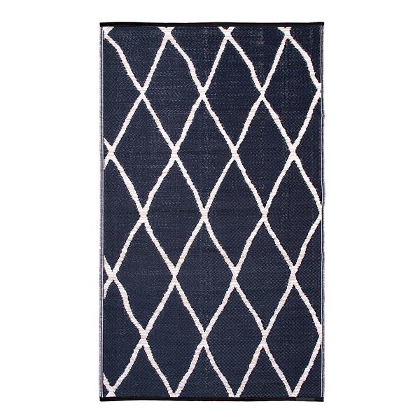 Fab Hab Nairobi Outdoor Rug in Natural & Black