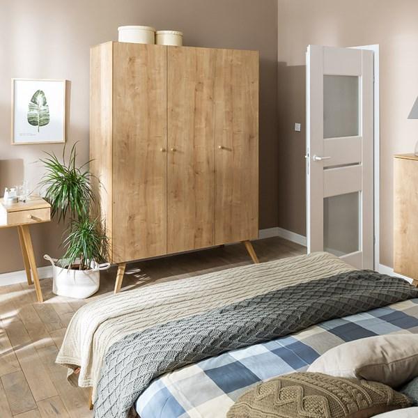 Vox Nature 3 Door Wardrobe in Oak Effect