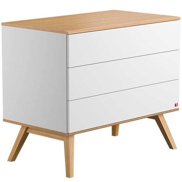 Nature Chest of Drawers in White & Oak