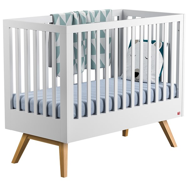 Nature Baby and Toddler Cot Bed in White & Oak