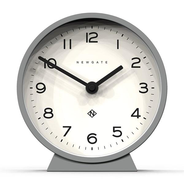 Newgate Mantel Clock with Pale Grey Matt Finish