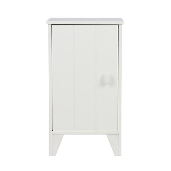 Nikki Bedside Cabinet in White