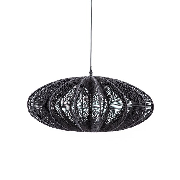 Black Rope Pendant Ceiling Light