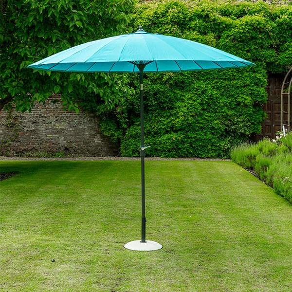 Oriental Aqua Blue Garden Umbrella