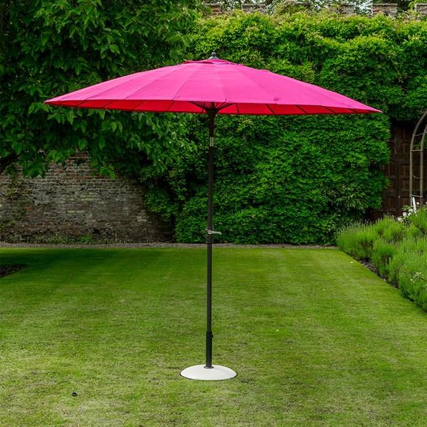 Fuchsia Pink Oriental Garden Umbrella
