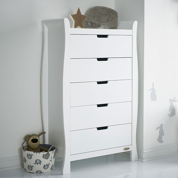 Obaby Stamford Tall Chest of Drawers in White