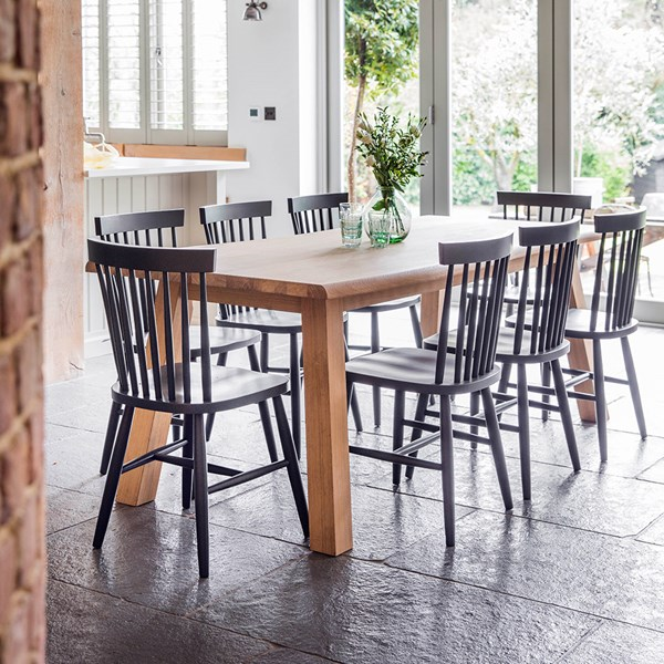 Garden Trading Oakridge Dining Set with Spindle Back Chairs