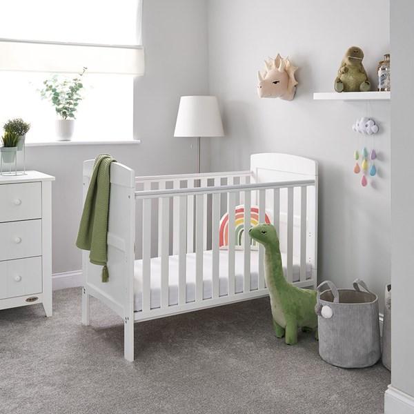 Obaby Grace Mini Cot Bed in White