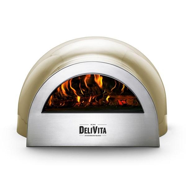 DeliVita Outdoor Pizza Oven in Olive Green