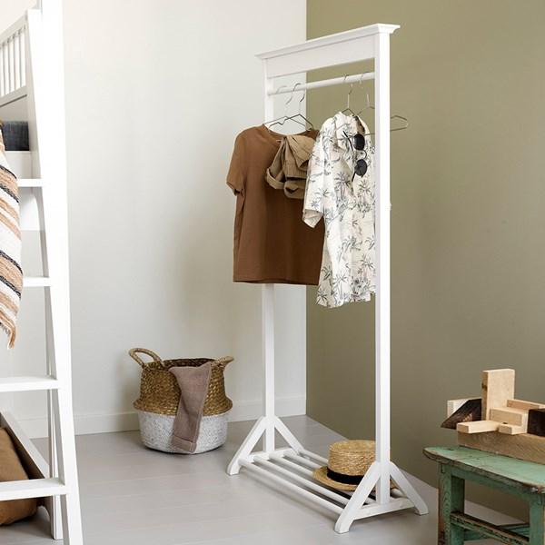 Oliver Furniture Children's Clothes Rail in White