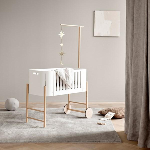 Oliver Furniture Wood Co-Sleeper, Cradle & Bench