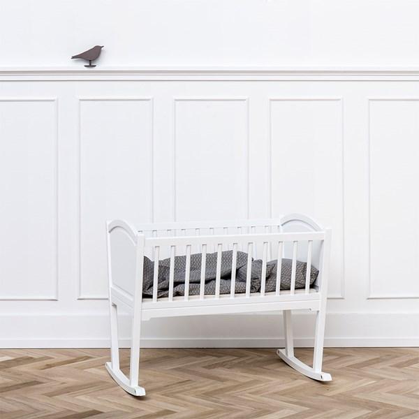 Nursery Rocking Baby Crib/Cradle in White