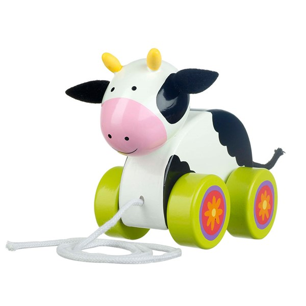 Cow Pull Along Toy