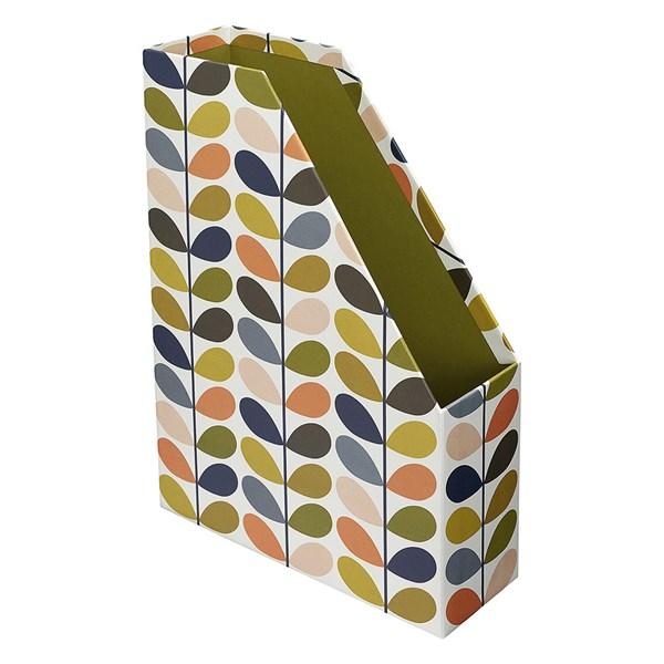 Orla Kiely Magazine Box File in Multi Stem