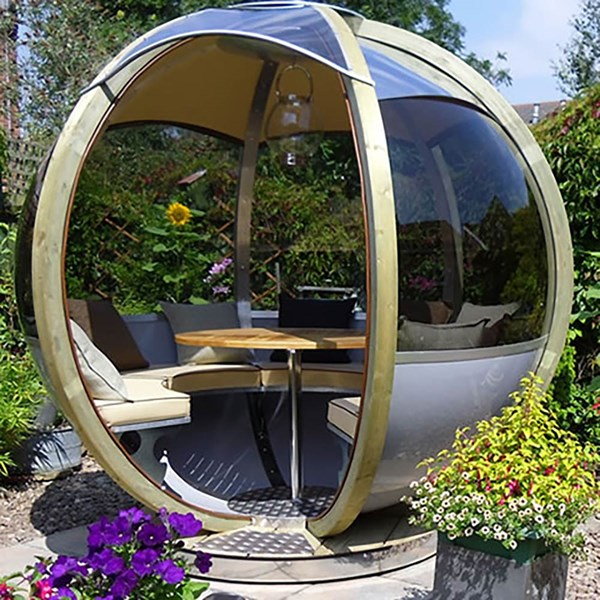 Ornate Garden Seater Pod with Dining Table