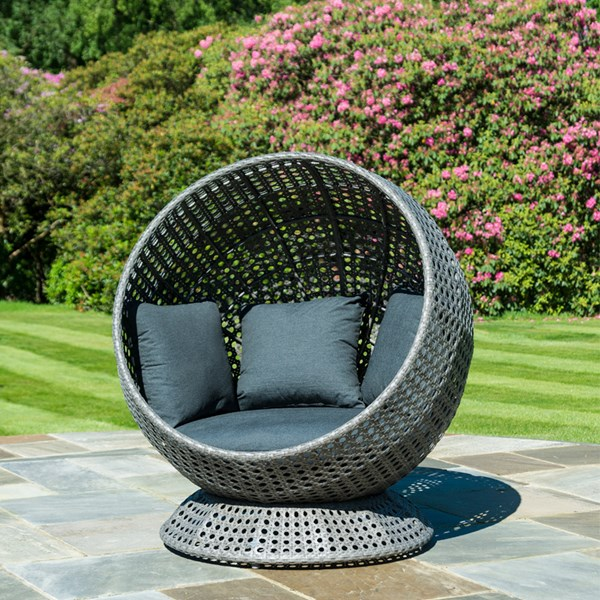 Outdoor Egg Chair In Grey