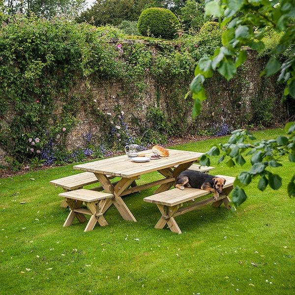 Modern Wood Garden Table