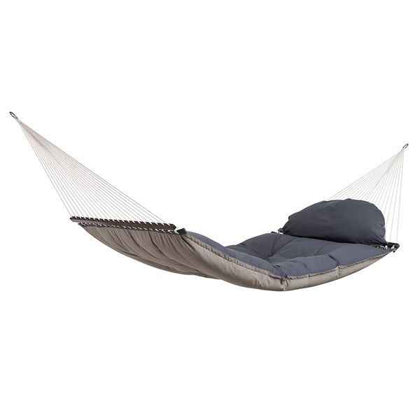 Reversible Fat Hammock Taupe with Detachable Cushion